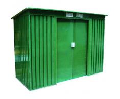Casetta garage ripostiglio rimessa attrezzi zincata 201x121x176 cm Cod. 55