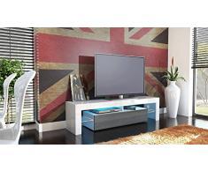 Kofkever Cesare 1106 Porta Tv Bianco/Avola Antracite mobile porta tv soggiorno