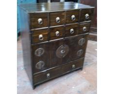 Antica Farmacia armadietto armadio ufficio armadio Apotheke Credenza cassettiera – comò armadio con 10 cassetti breite49 X hoehe59 cm
