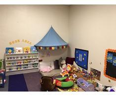 Top Home Solutions® libreria a parete in legno per bambini, scaffali portaoggetti per libri e per tenere la cameretta dei giochi ordinata