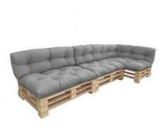 Oslo cuscini per mobili in pallet impermeabili, trapuntati, imbottiti, per divani in pallet