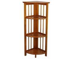 Scaffale angolare unità Libreria con 5 ripiani in legno scaffale