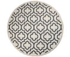 UArtlines 120 cm Cotone Tappeto Rotondo con Nappe Tessuti a Mano Grande Tappeti Lavabili in Lavatrice Salotto Morbido Tappeto Rotondo Fiore per Camera da Letto