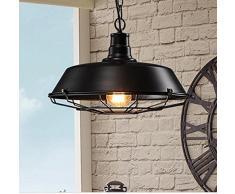 GS~LY American village ferro battuto lampadario soggiorno sala da pranzo Villa lampada,46CM