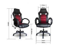 VINGO® Poltrona direzionale in PU con sedia da ufficio imbottita di altissima qualità Sedia ergonomica comfort
