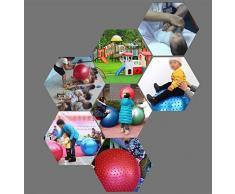 RUIX Esercizi Pre-Parto Ball, Ball Chair, Yoga Pilates Balance Ball Con Pompa,Red,L