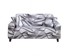 HOTNIU Fodera per Divano Copridivano Elasticizzato Fodera per Divano Motivo Floreale Fodere Copridivani Universale Protezio per Poltrone/Sofa, con 1 Fodera per Cuscin (3 Posti, Modello XW)