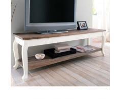 """Mobile TV """"Country"""" in legno MDF bianco/marrone"""