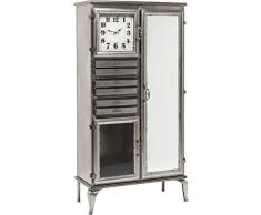 kare design – Buffet Alto 2 Ante con Specchio Acciaio Laccato Time