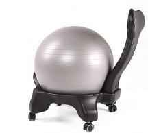 Caishuirong Sedia da Ufficio Esercizio di stabilità Yoga Palla Premium Sedia ergonomica for casa e Ufficio Escursioni con Pompa Air Classic Balance Ball Chair Adatta per L'Ufficio Lavoratori