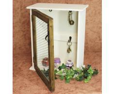 Scaffale a parete Cassetta porta-chiavi 12045 Scaffale 42cm Vintage Shabby stile country Scaffale da cucina