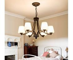 paesaggio rurale retrò battuto lampadari in ferro camera da letto soggiorno sala da pranzo lampadario Nordic semplice lampadario atmosferico