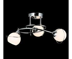 Ø50cm design lampadario per il soggiorno sospeso illuminazione plafoniera soffitto luce sospensione 6x G9 inl. lampadini