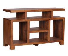 Mobile porta tv scaffale fatto a mano design moderno decorativo legno massello A059 40x120x76cm