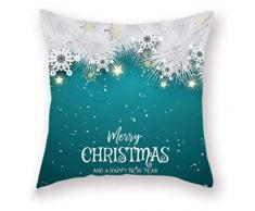 XIAOGING Tema di Buon Natale Decorativo Federa Home Decor Christmas Star tiro Cuscino copridivani Cuscino, style4 (Colore : Style2)