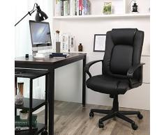Scrivania Ufficio Nera : Poltrone per ufficio songmics da acquistare online su livingo