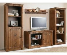 TV-armadio in stile country, in legno di pino stile coloniale colori