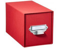 Roessler Papier - Scatola porta-CD S.O.H.O., con cassetto e manico, colore: Rosso, 1 pezzo