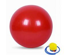 HUANGXIU Palla per Esercizi Pre-Parto Ball, Ball Chair, Yoga Pilates Balance Ball con Pompa,Rosso,65cm