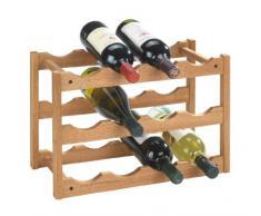 """Wenko 18615100 Scaffale portabottiglie """"Norway"""" per 12 bottiglie, in noce, 42 x 28 x 21 cm"""