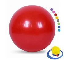 YANGHUI Ball Chair, Yoga Pilates Balance Ball con Pompa Palla da Gravidanza Il Parto Ginnastica maternità Travaglio e Yoga,rosso-48cm