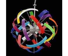 Shape Lampadario in Plexiglass a Sospensione Stile Moderno Colori A Scelta Personalizzabili 6 Luci Soggiorno Camera da letto Cucina Cameretta Salotto