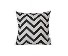 Dongguandong Comoco® - Set di 2 federe per cuscini, fantasia geometrica, tela decorativa per cuscini dei divani, Navy Blue, 60 x 60 cm