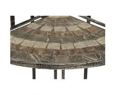 Siena Garden Felina scaffale angolare ferro con effetto mosaico, 140 cm, Multicolore