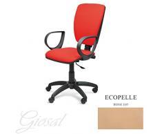 Sedia Napoli Nera Poltrona Girevole Ecopelle Operativa Studio Ufficio Vari Colori GIOSAL-Beige