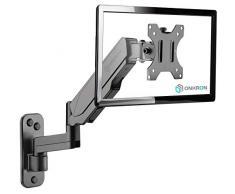 ONKRON Supporto TV da parete per schermi 13-32 Pollici LCD LED OLED - Con Molla a Gas VESA 75 x 75-100 x 100 mm e peso max 8 kg - G150