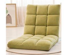 YYHSND Sedia da terra nera con schienale regolabile, sedia pieghevole bassa ideale come sedia da pavimento TV addensata, poltrona da gioco a terra, sedia da meditazione e sedia da lettura Sedia con sa