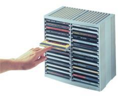 Fellowes Porta CD, contiene fino a 38 CD; colore: Bianco