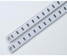 2 pz. listello reggipiano, binario per reggimensola, alluminio, anodizzato 1000 x 15,5 mm