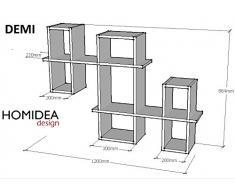 DEMI Mensola da muro - Mensola Parete - Mensola Libreria - Scaffale pensile per studio / soggiorno in un design moderno