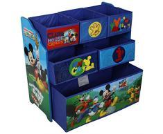 Disney&Marvel Scaffale multi cestino in legno organizer per i giocattoli dei bambini Disney Mickey Mouse