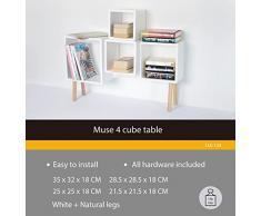 Offerta! Set di 4 Cube scaffale Cubo Libreria CD scaffale Bücherregal_Schrank (13A -124)