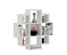 Bloom Mensola da muro – bianco – Mensola Parete – Mensola Libreria – Scaffale pensile per studio/soggiorno in un design moderno...
