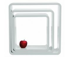 Kare 4687 Cubi - Set di 3 mensole quadrate, colore: Bianco