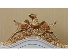 'Armadio Barocco rococò Renaissance vetrina Armadio Louis Seize Colore: Bianco/Oro hoehe198 cm xbreite100 cm