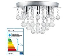 [lux.pro] Lampadario a corona - Trio - (3 attacchi G9)(20cm x Ø 28cm) Lampada da soffitto Attacco a morsetto Lampada da camera Lampada da soggiorno