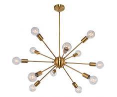 OYIPRO Sputnik Lampadario Modern lusso Lampada a sospensione con 12 E27 per soggiorno Camera da letto Loft (Senza lampadina)