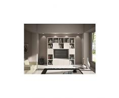 Legno Bianco Frassinato : Librerie a parete color bianco da acquistare online su livingo