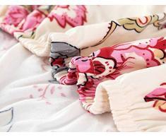 LINGJUN Colorful Cassa del Fiore Stampa Divano Lounge Copridivani Stretch Home Elastico Arms Hotel Mobili di Protezione (Fiore rosa, 2 posti 150-185cm)