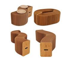 AlienTech - Seduta di carta kraft componibile e pieghevole, design moderno, assume la forma di divano, sedia, sgabello e altro, per scuola, cucina, salotto, sala da pranzo e casa in generale Brown