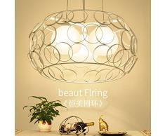 DGDH Tre moderno lampadario minimalista del pasto LED creativo sala da pranzo illuminazione singola testa corridoio bar lampadari in vetro,Come mostrato,Taglia unica