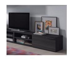 Links - Siviglia d14 mobile tv 1 porta con mensola. Dim.130x42x34h cm. Melamine. Grigio cenere.