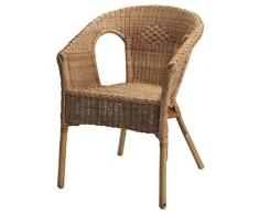 Ikea Agen - Poltrona in rattan e bambù