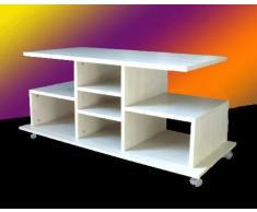 Carrello Porta TV 311R, Rovere sbiancato, Misure: L 125 cm x P 50 cm x H 56 cm