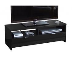 Berlioz - Mobile per TV con piano in particelle ad alta densità, colore: Nero