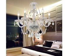 OOFAY LIGHT® Lampada cristallo soggiorno elegante e raffinato 6 camere da letto lampadario di cristallo lampadario di cristallo lampadario di cristallo ristorante